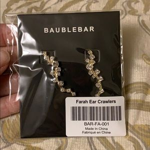 NWT Baublebar Farrah Ear Crawlers - Gold